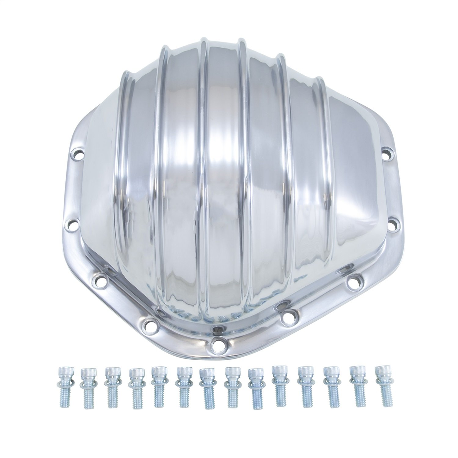 Yukon (YP C2-GM14T) Polished Aluminum Cover for GM 14-Bolt Truck 10.5'' Differential