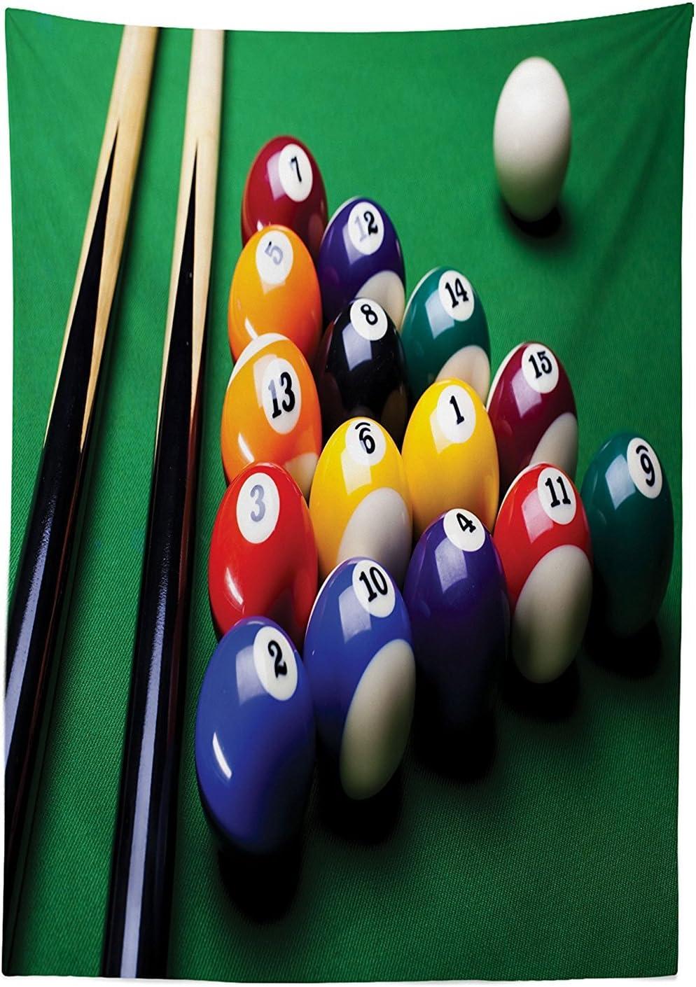 vipsung Manly Decor Mantel arreglo de Bolas de Billar de Billar Snooker Concurso Comienzo Entretenimiento Juego Comedor Cocina Funda para Mesa Rectangular: Amazon.es: Hogar