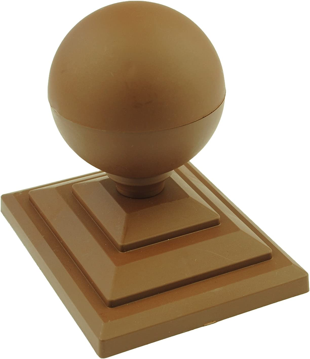 UK Made GT0033 Free UK Postage 4 x Linic White Sphere Top Fence Finials /& 4 Fence Post Caps.