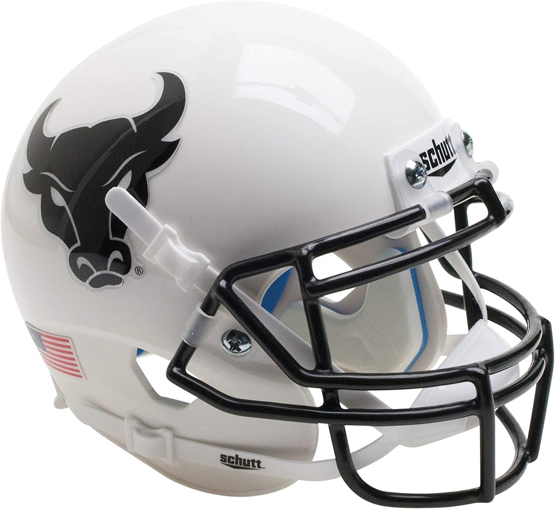 5 Schutt NCAA Buffalo Bulls Mini Authentic XP Football Helmet White Alt Mini