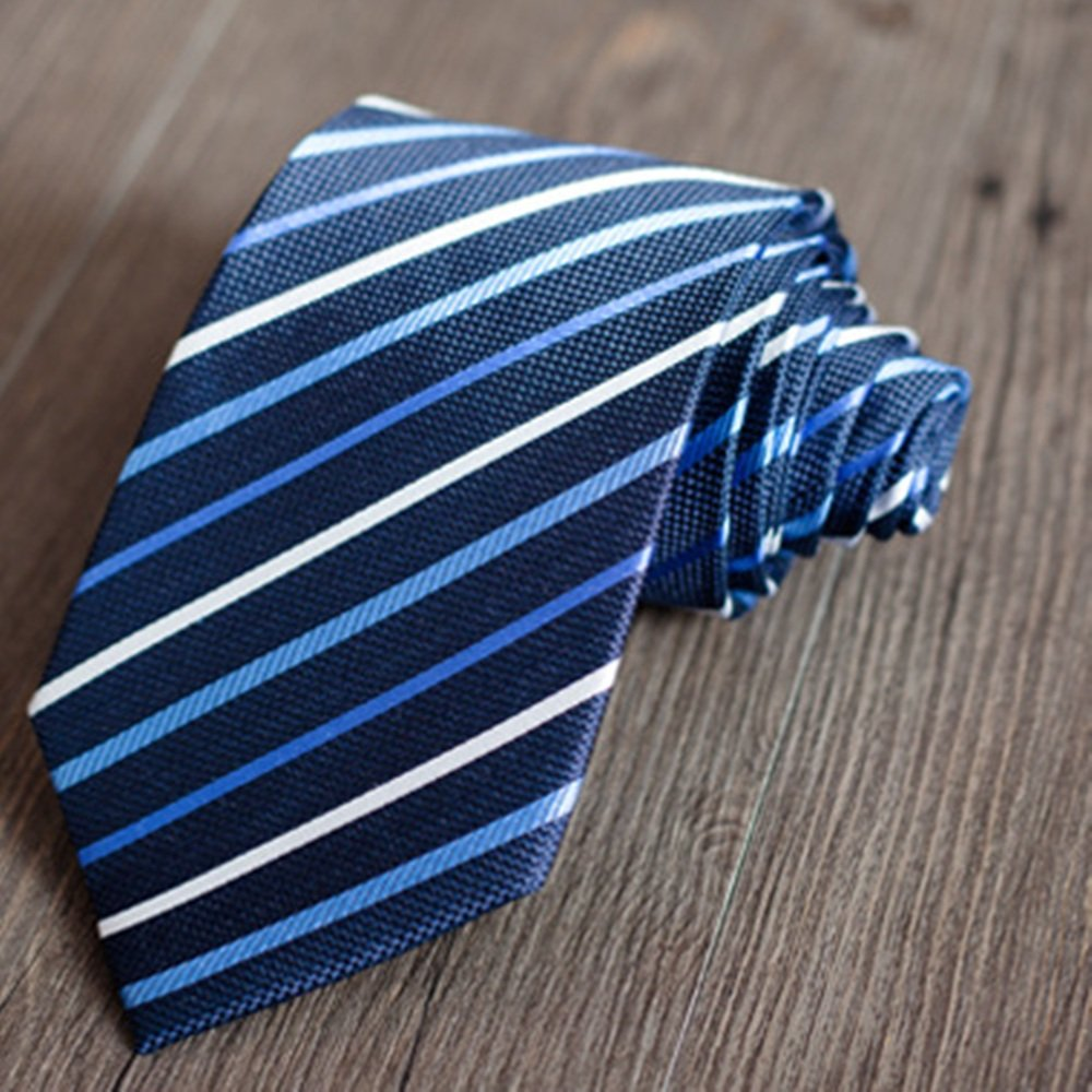 Neck Bowtie Mens Professional Business Tie Striped Pure Silk Tie Wedding Groom Tie Gentleman Fashion Accessory