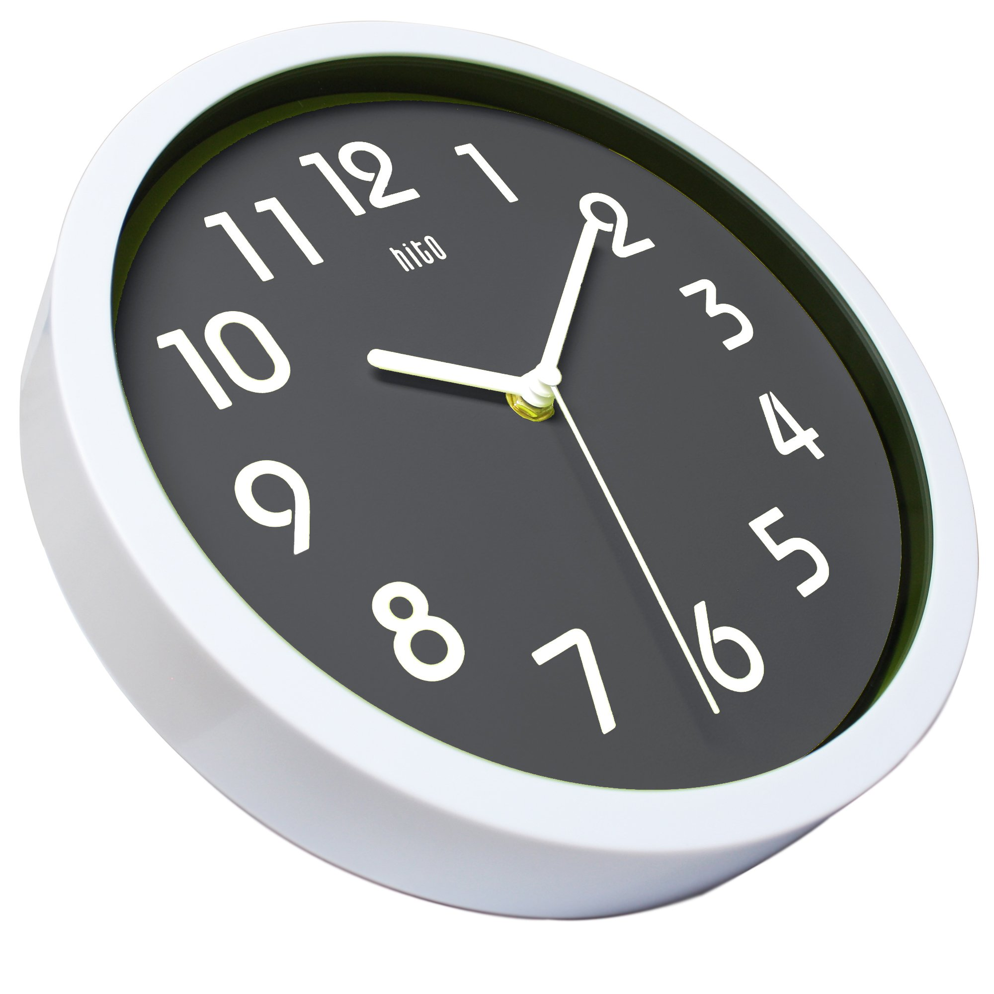 Hito Silent Wall Clock Non Ticking 10 Inch Excellent Accurate Sweep