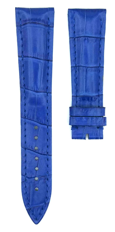 F。Muller 07 G 22 X 18 mmレザーウォッチバンドストラップ 22mm ブルー ブルー ブルー B07883FFNX
