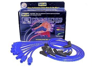 amazon com taylor cable 74676 spiro pro blue spark plug wire set rh amazon com Automotive Wiring Harness Headlight Wiring Harness