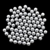 AD Beads Top Quality Czech Glass Pearl Round Loose Beads 3mm 4mm 6mm 8mm 10mm 12mm (3mm (200 Pcs), Light Grey)