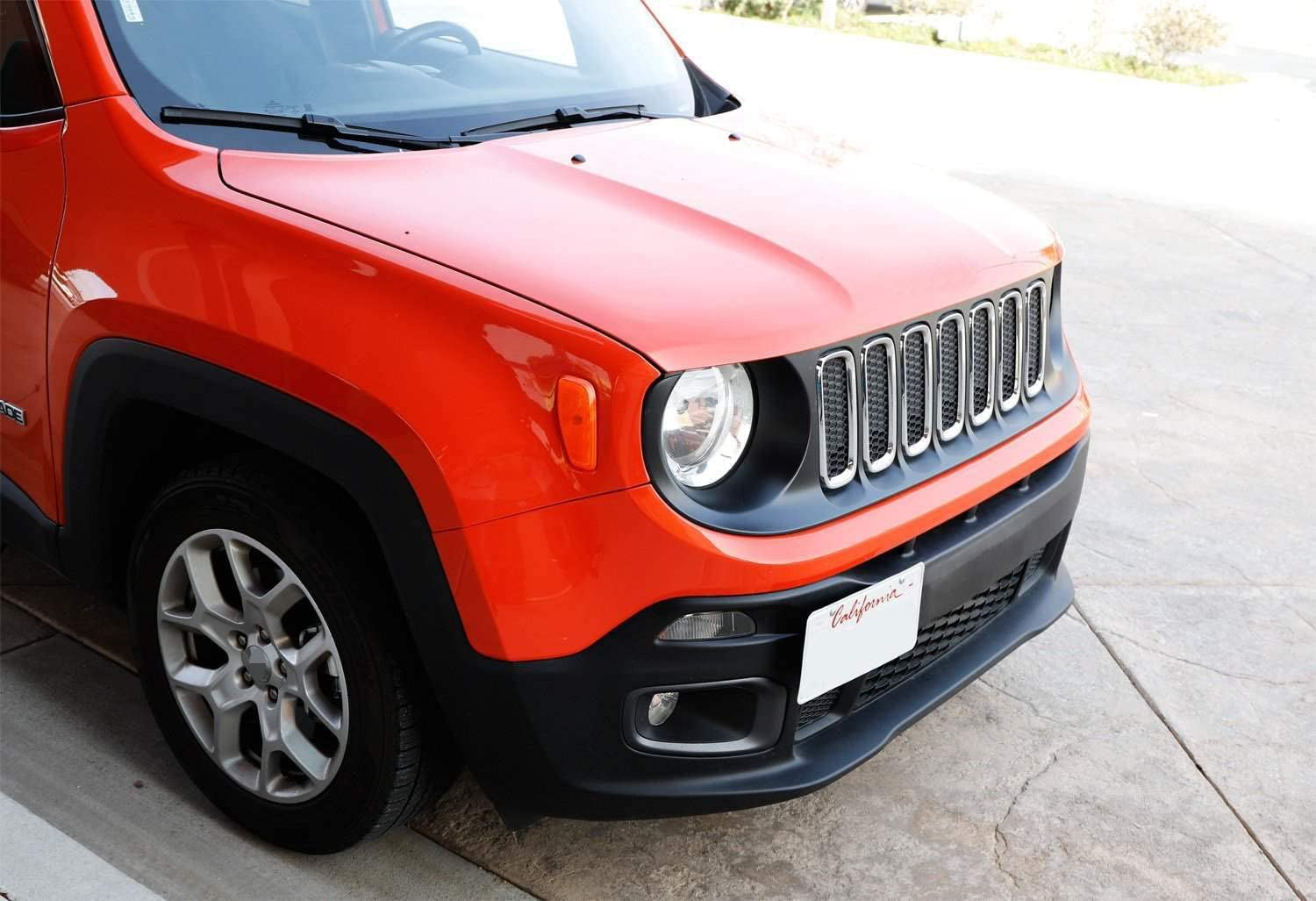 iJDMTOY No Drill Front Bumper Tow Hook License Plate Mounting Bracket Adapter Kit For 2015-up Jeep Renegade Latitude Sport Limited Except Trailhawk
