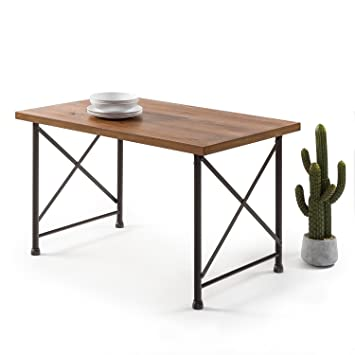 Amazon.com: Zinus estilo industrial mesa de comedor: Kitchen ...