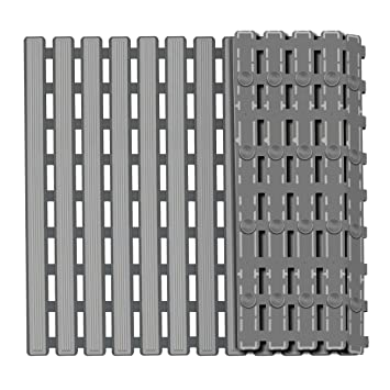 Non Slip Bath Mat With Suction Cups Bathroom Kitchen Door Floor Tub Shower Safety Mats Anti-bacteria Professional With Drain Bathroom Products Home & Garden