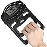 GRIPX Digital Hand Dynamometer Grip Strength Measurement Meter Auto Capturing Electronic Hand Grip Power 198Lbs / 90Kgs, Blac