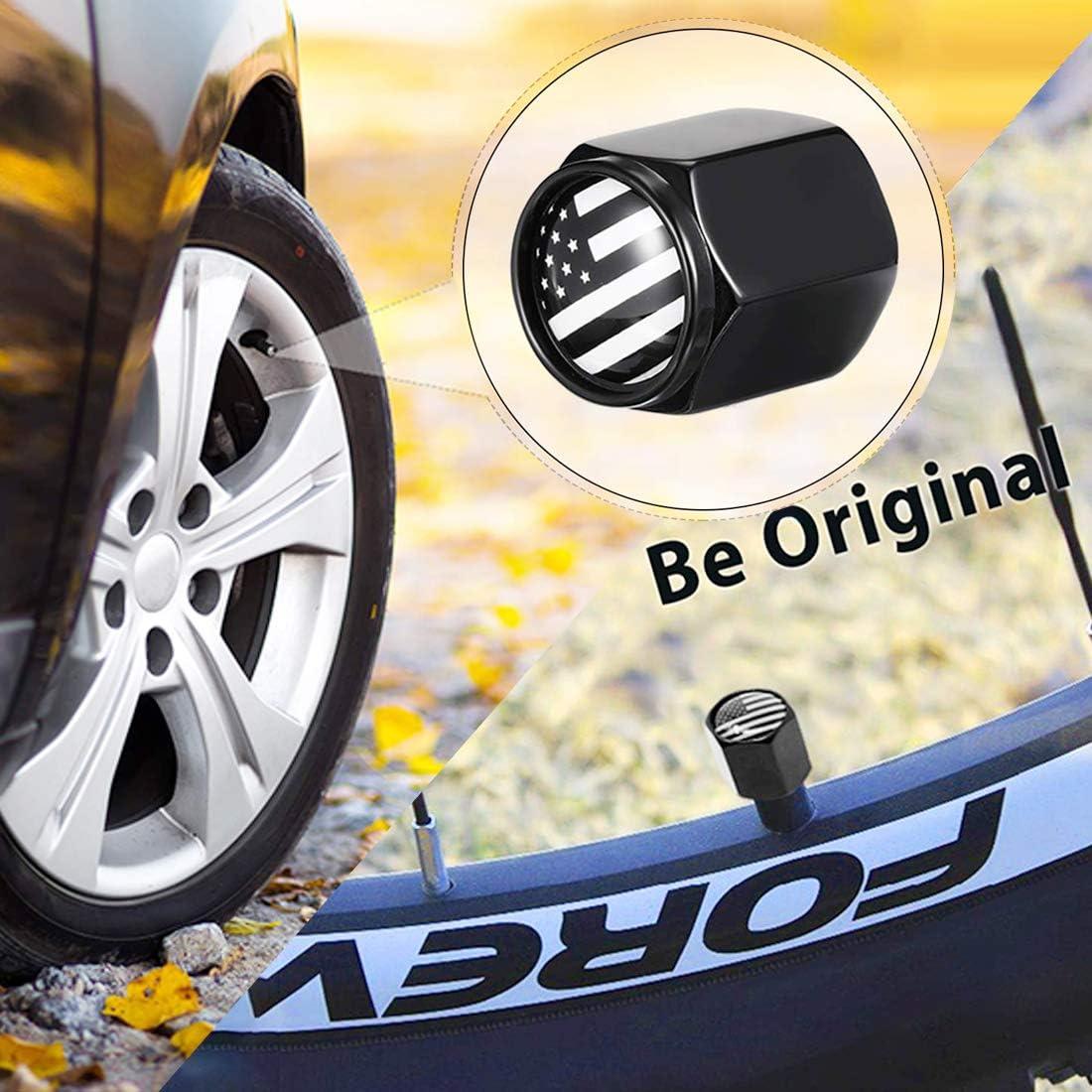 Universal Anti-theft Car Air Valve Caps Dustproof Tire Valve American US Flag