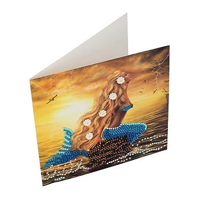 CRYSTAL ART Mermaid Dreams Card Kit 18 x 18 cm: Toys & Games