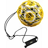 PodiuMax Handle Solo Soccer Kick Trainer with New Ball Locked Net Design, Soccer Ball Bungee Elastic Training Juggling Net (F