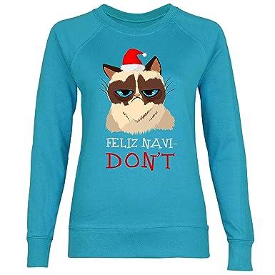 wowshirt Sudadera Amantes de los Gatos Feliz Navi-No Feliz ...