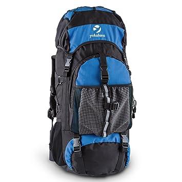 Yukatana Thurwieser BK • Mochila para Trekking con lona impermeable • Volumen 55 litros • Correas ...