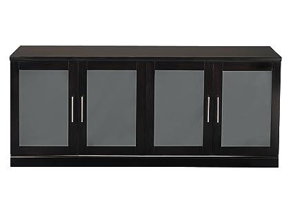 Genial Mayline SLCESP Sorrento Low Wall Cabinet 72u0026quot; W X 24u0026quot; D, 4 Doors