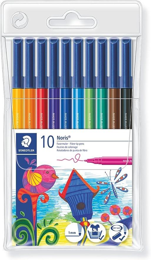 Staedler 326 WP10 - Estuche con 10 rotuladores, Multicolor: Amazon.es: Oficina y papelería