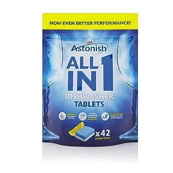 Astonish - Pastillas para lavavajillas 5 en 1, 42 pestañas de ...