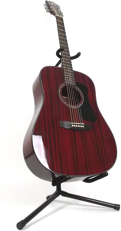 Hermandad D-125 caoba Dreadnought Guitarra Acústica – Cherry rojo con funda: Amazon.es: Instrumentos musicales
