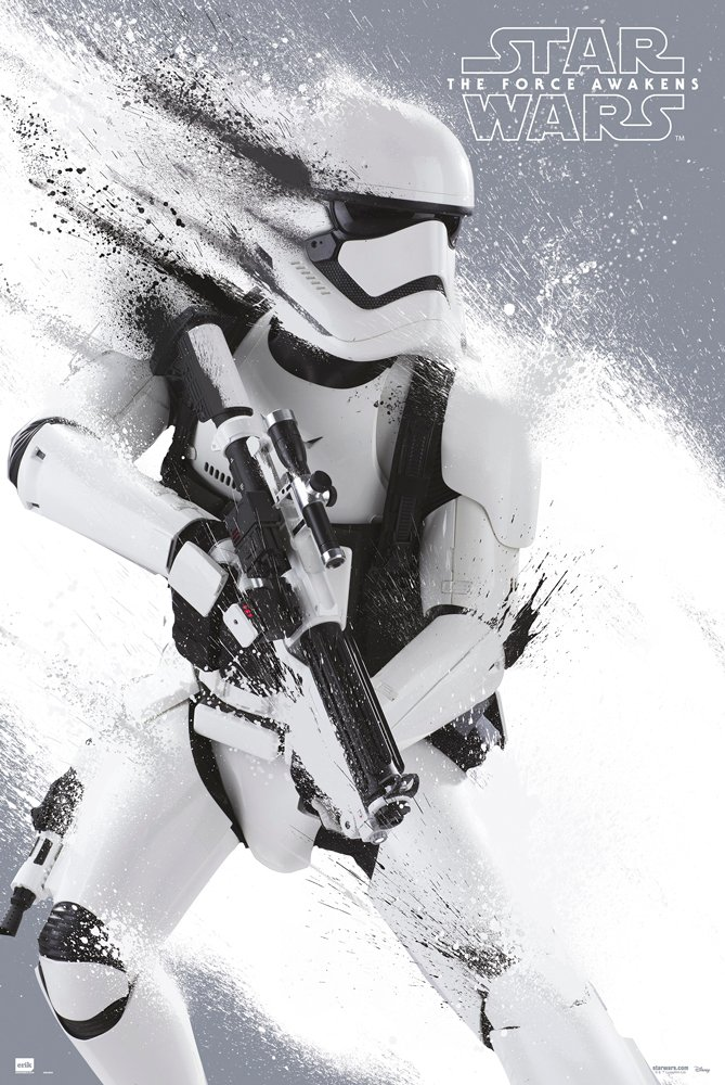 """POSTER STOP ONLINE Star Wars: Episode VII - The Force Awakens - Movie Poster/Print (Stormtrooper) (Size: 24"""" x 36"""")"""