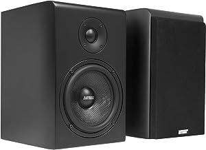 Earthquake Sound RBS-52 2-Way Bass Reflex Bookshelf Home Speakers, Set of 2, Matte Black