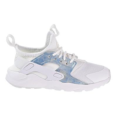 816a45171a1 Nike Huarache Run Ultra Little Kids Running Shoes White/White-Royal Tint  859593-