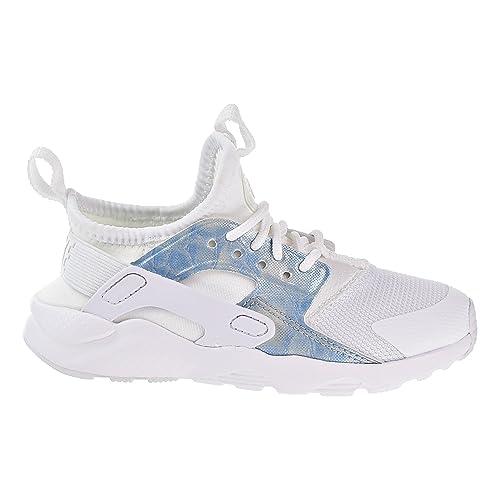 Nike Huarache Run Ultra Little Kids Running Shoes White White-Royal Tint  859593- 602833471
