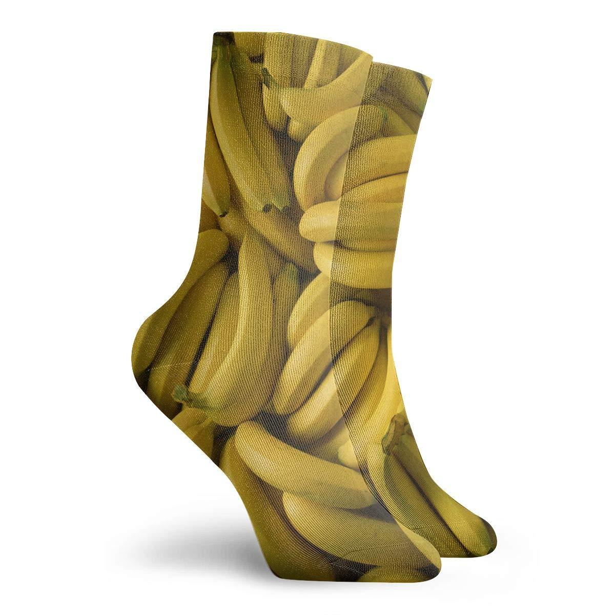Banana Unisex Funny Casual Crew Socks Athletic Socks For Boys Girls Kids Teenagers