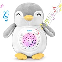Samxic Baby Shower Gift - White Noise Sound Machine, Sleep Soother, Baby Sound Machine with Sleep Aid Night Light, Lullabies & Timer Setting (Penguin)