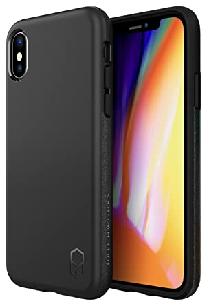 a4508bcc548250 PATCHWORKS Level ITG Case in Black Compatible for iPhone X XS One Piece TPU  PC