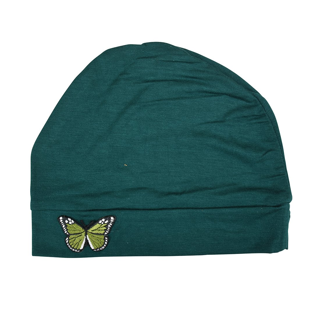 Landana Headscarves Ladies Chemo Hat with Green Butterfly Bling lduc-black-a3green