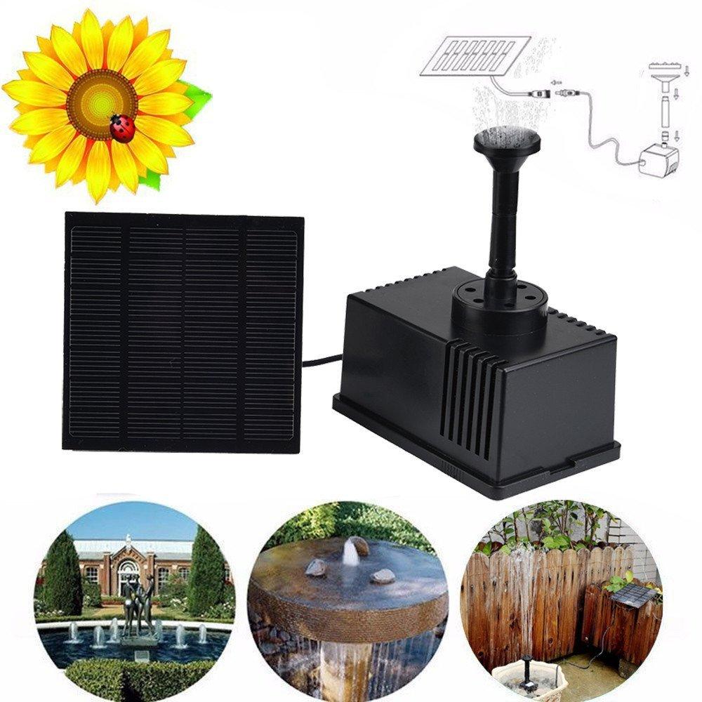 Kangkang Useful Solar Water Panel Power Fountain Pump Kit Pool Garden Pond Watering Submersible Gift