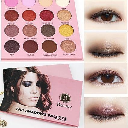 Limpieza! Sombra de ojos Sunday77 24 colores de lujo ...