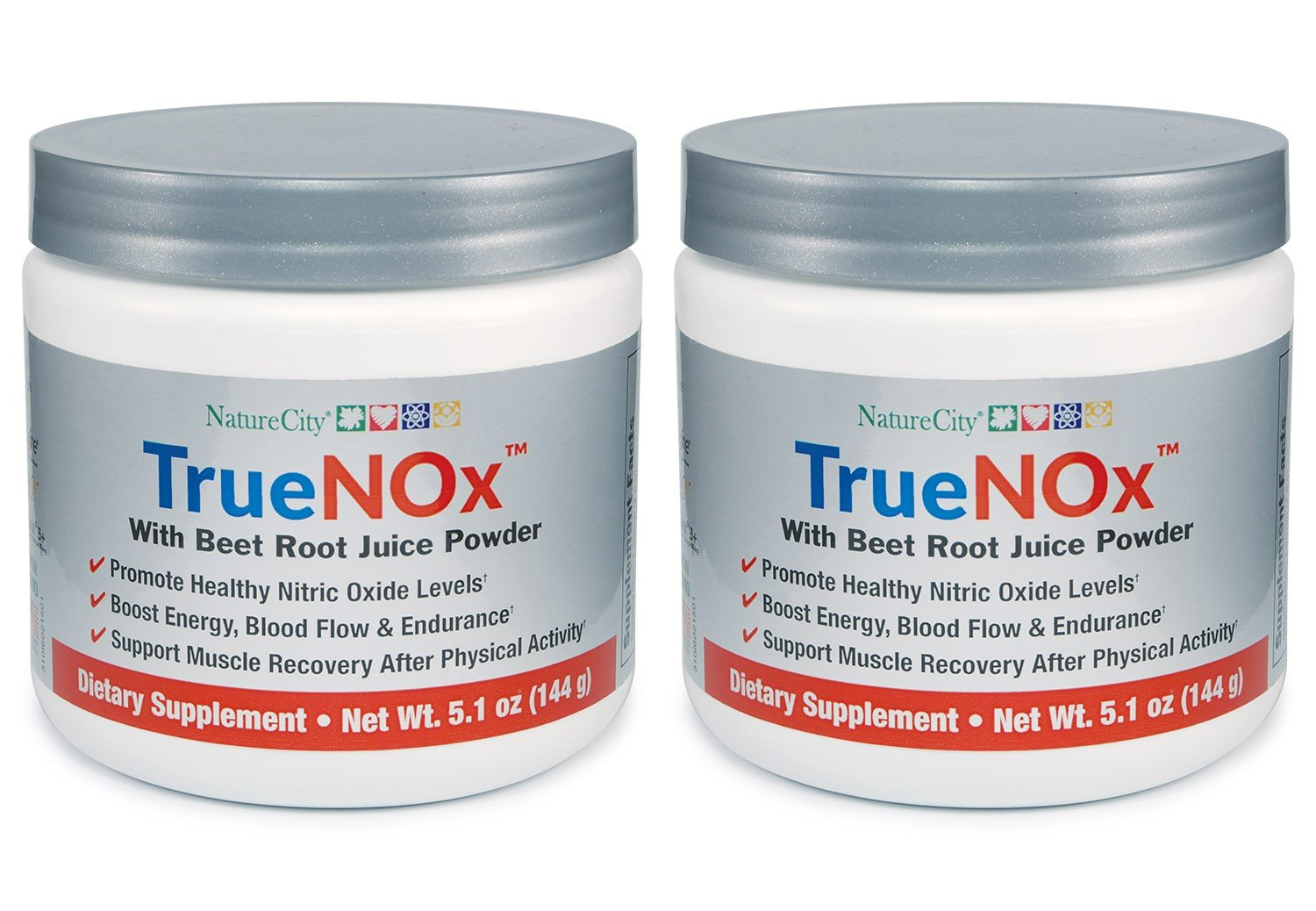 TrueNox With Beet Root Juice Powder - Premium Nitric Oxide and Athletic Endurance Booster - (2 Pack)