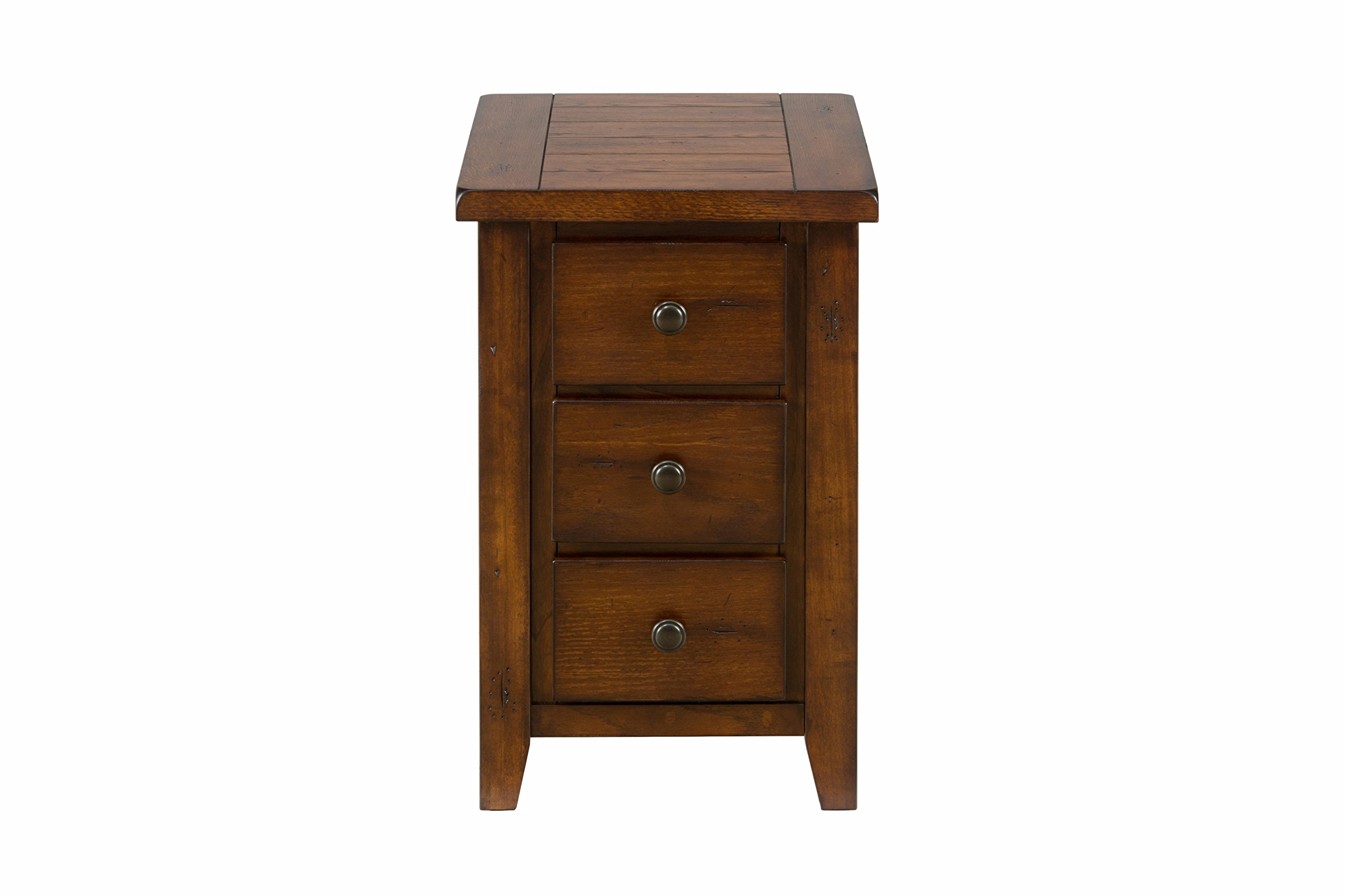 Jofran: 443-7, Clay County, Chairside Table, 16''W X 24''D X 24''H, Clay County Oak Finish, (Set of 1)
