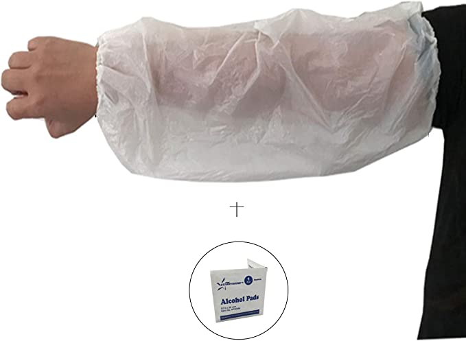 Waterproof Oversleeves Arm Sleeves Cover Sleevelets Cuffs for Cleaning 6L