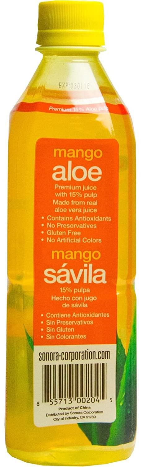 Amazon.com : Viloe Aloe Drink, Mango, 16.9 Fluid Ounce (Pack of 24) : Grocery & Gourmet Food
