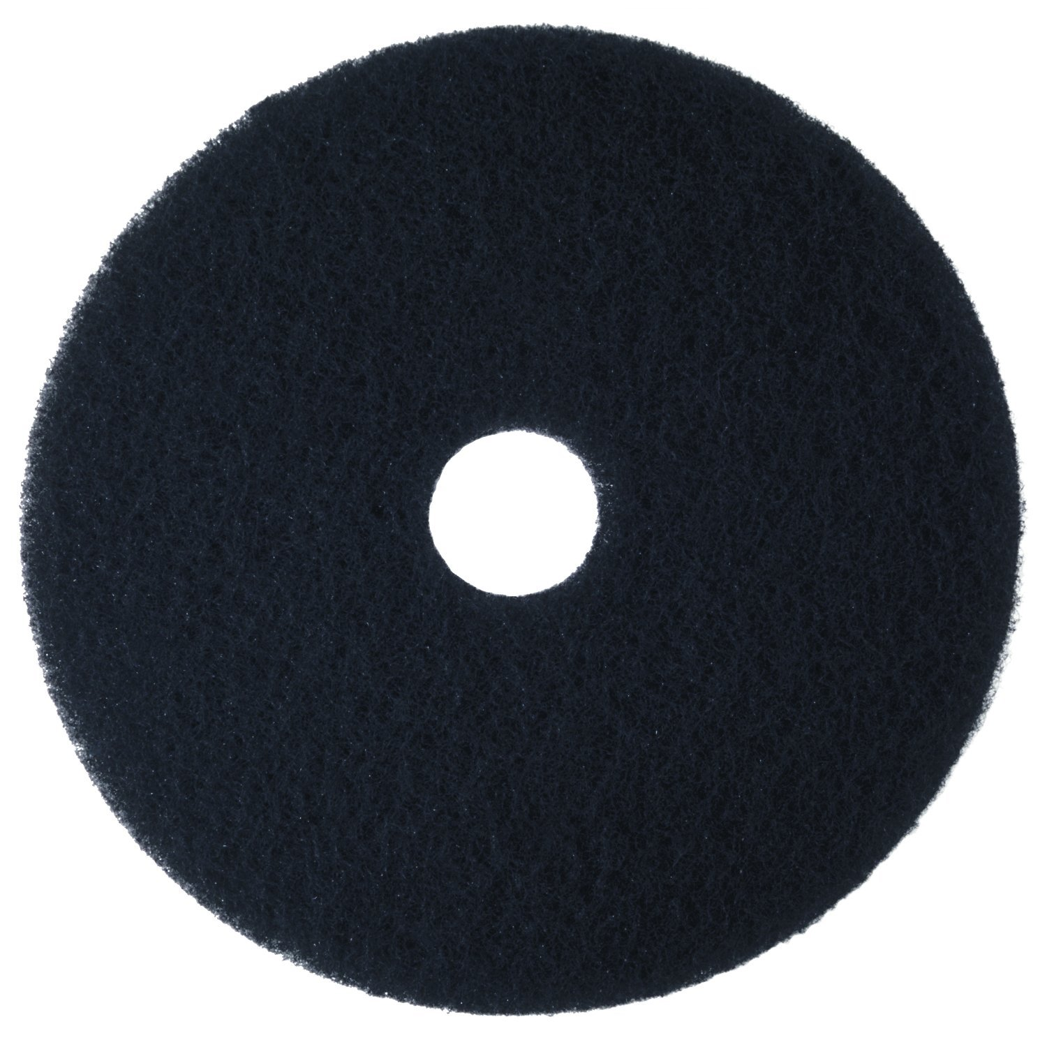 "Case of 5 3M High Productivity Black Pad 7300 20/"" Floor Care Pad,"