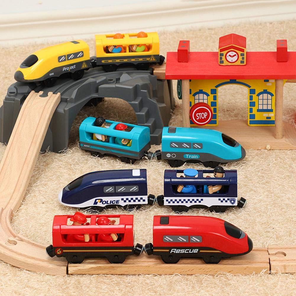Urben Life Set di trenini Set di trenini elettrici Strumento di Comunicazione Puzzle Spedizione vocale Suono Trenino Elettrico Giocattolo Compatibile per Treni ferroviari in Legno