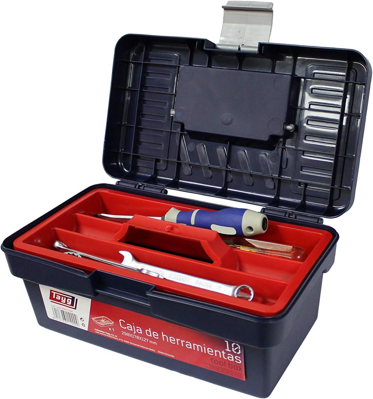 Tayg Caja herramientas plástico n. 10, negro, 290 x 170 x 127 mm ...