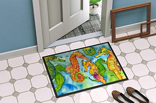 Caroline s Treasures 8546-MAT Seahorse Indoor or Outdoor Mat 18×27 8546 Doormat, 18H X 27W, Multicolor