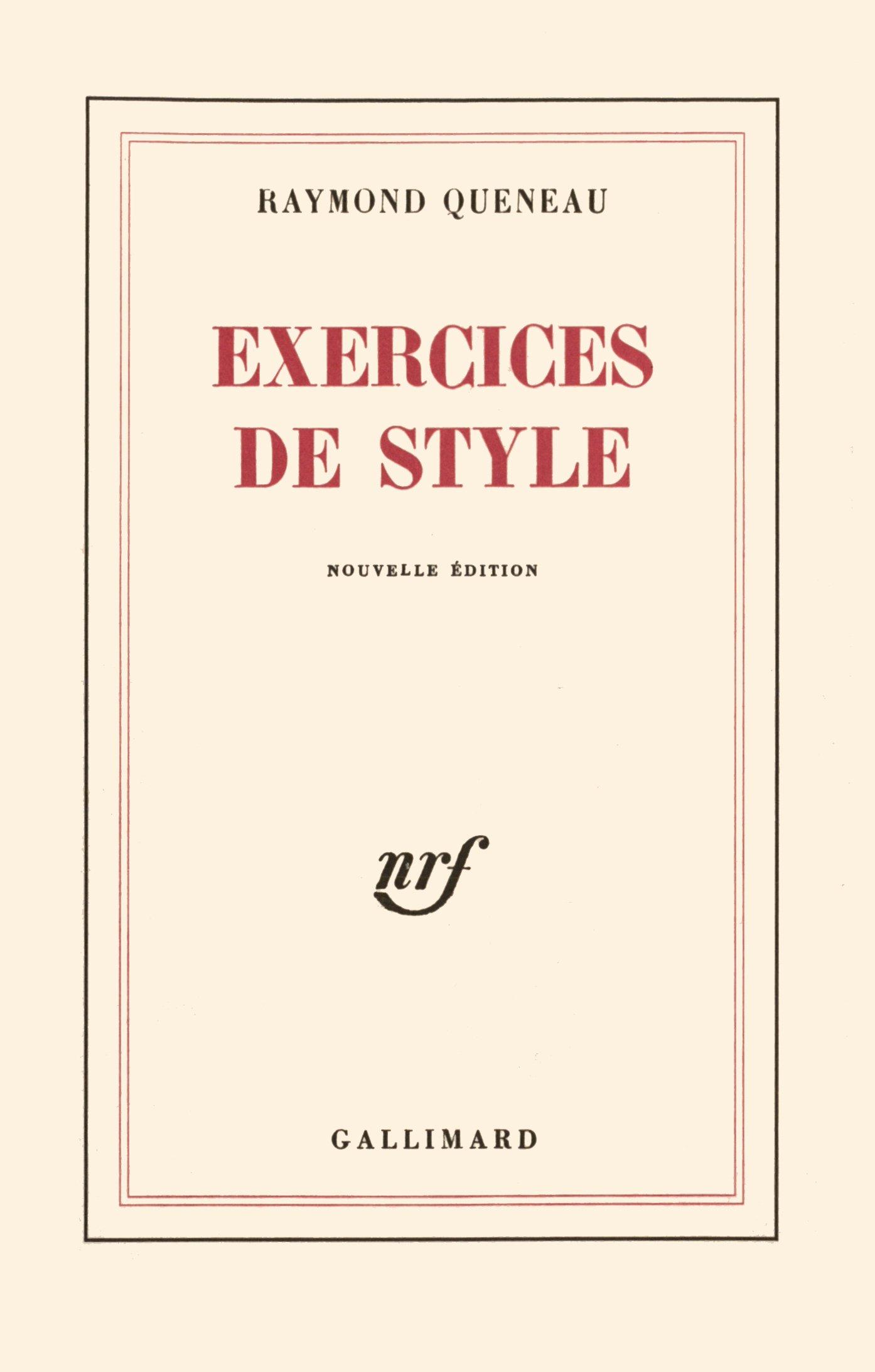b6e13e2fac7 Amazon.fr - Exercices de style - Raymond Queneau - Livres