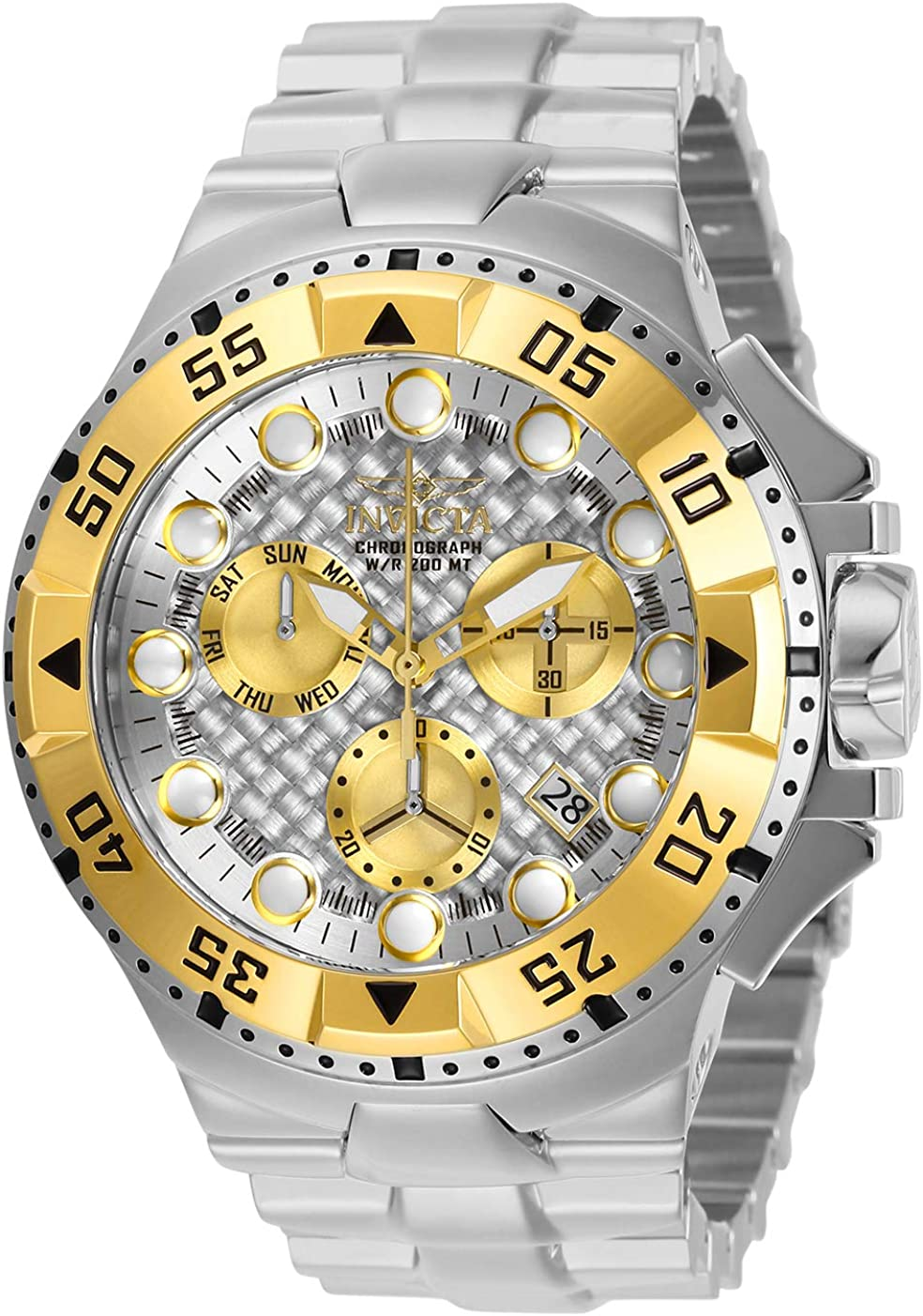 Invicta Men s Excursion Quartz Watch with Stainless Steel Strap, Silver, 30 Model 29724