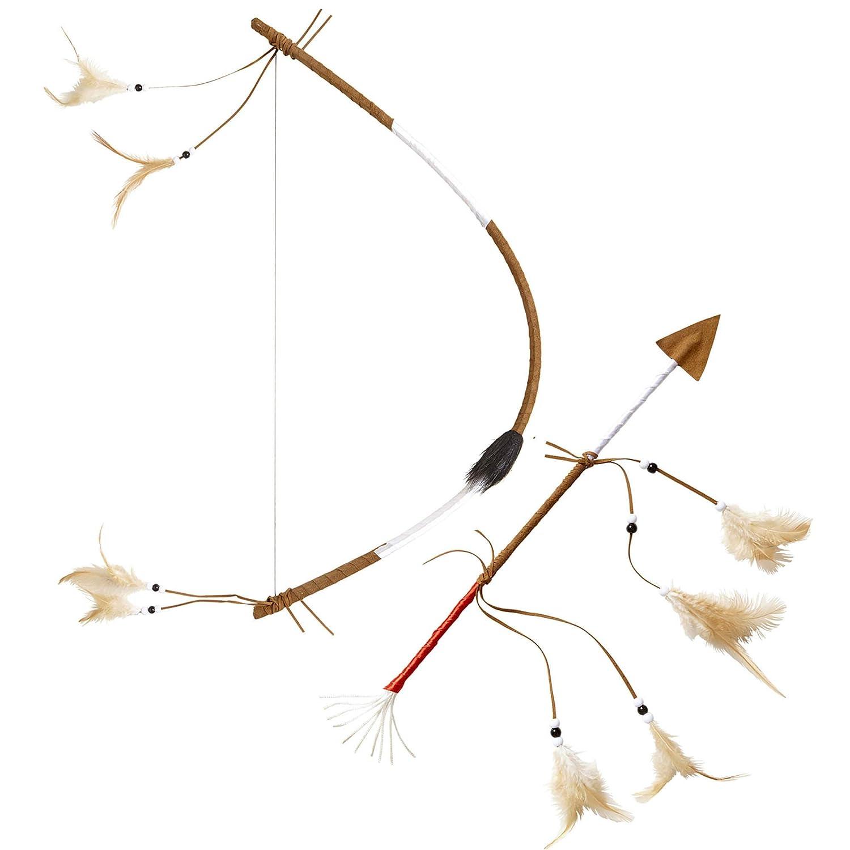 Widmann Arc indien avec flèche et plumes, réaliste 60 cm