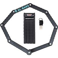 Candado antirrobo plegable extralargo para bicicleta eléctrica, 8 ramas, 88 cm, circunferencia, negro, alta seguridad, 3…