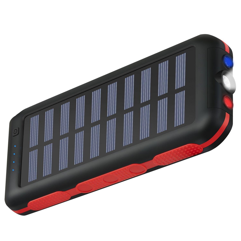 portable charger power bank solar charger 25000mah waterproof batter