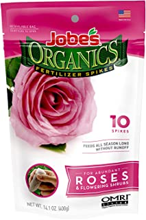 product image for Jobe's Organics Rose & Flower Fertilizer Spikes, 10 Spikes