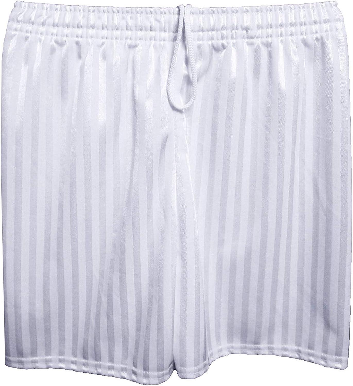 MyShoeStore Unisex PE Shorts Boys Girls Kids Children Adults Back to School Uniform Shadow Stripe Sports Gym Football Games P.E Pull Up Short