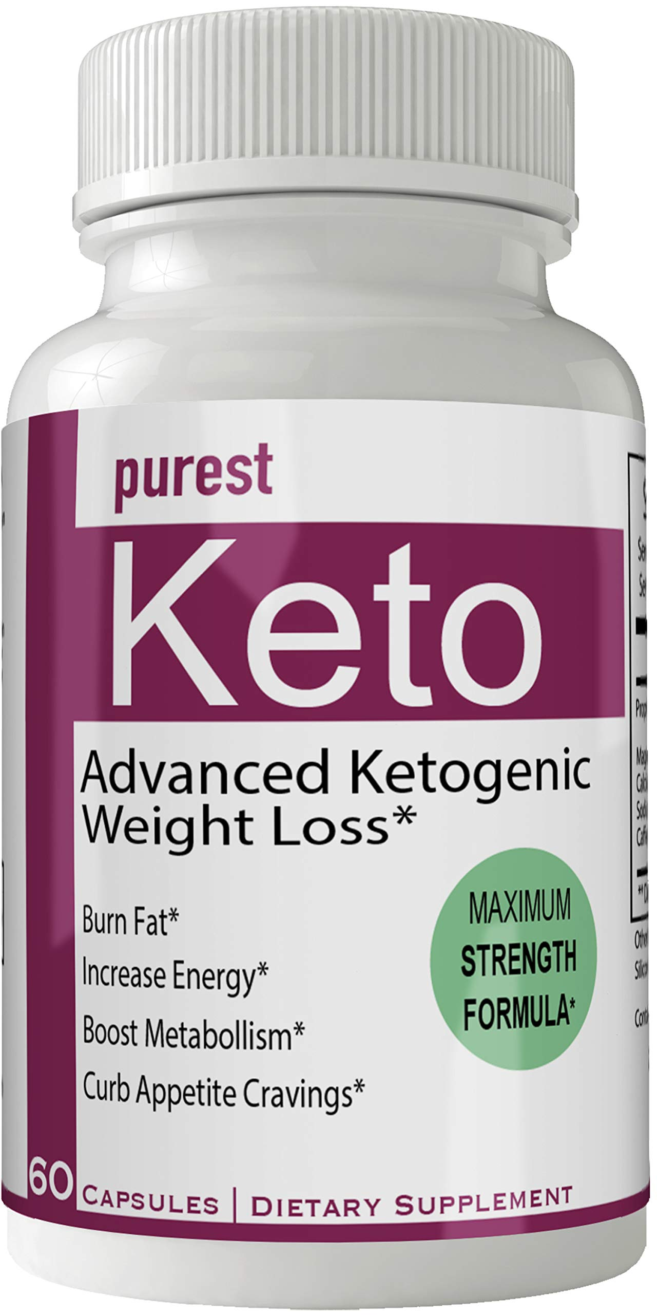 Purest Keto Diet Pills Advance Weight Loss Supplement Appetite Suppressant Natural Ketogenic 800 mg Formula with BHB Salts Ketone Diet Capsules to Boost Metabolism, Energy and Focus