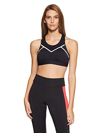 Marks   Spencer Women s Full Cup Non Wired Sports Bra(6344 Black Silver 32B) a8ca07e90