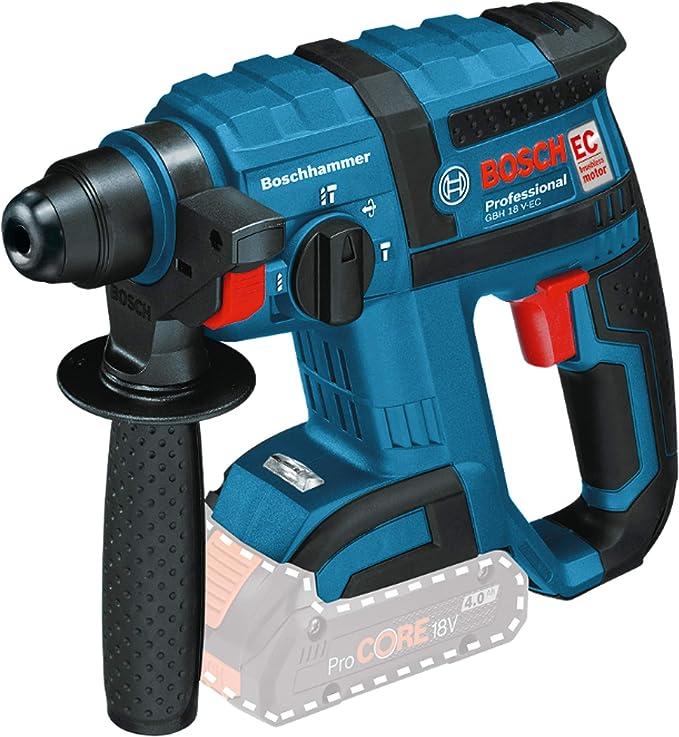 Bosch Professional GBH18 VECC Akku-Bohrhammer GBH 18 V-EC Professional 18.72 Noir Bleu